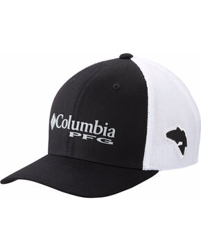 Columbia Men's Trout Performance Ball Cap, Black/red, hi-res