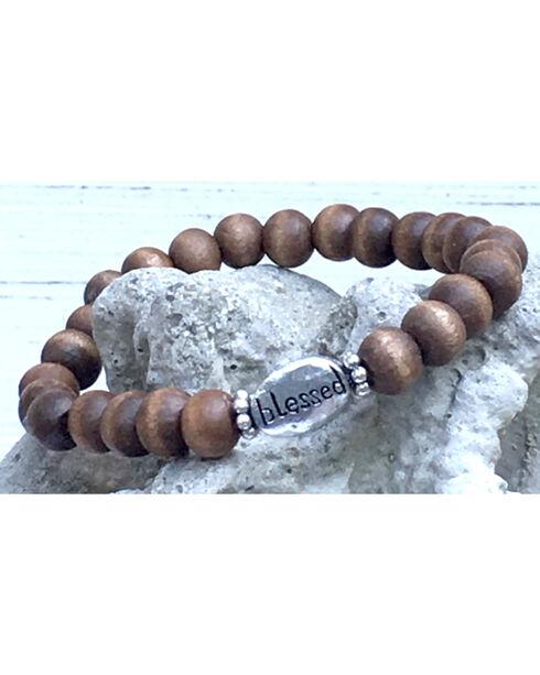 InspireDesigns Women's Brown Inspirational Wood Bracelet , Brown, hi-res