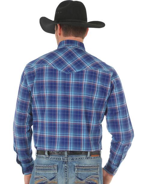 Wrangler 20X Men's Blue Red Competition Advanced Comfort Snap Shirt, Blue, hi-res