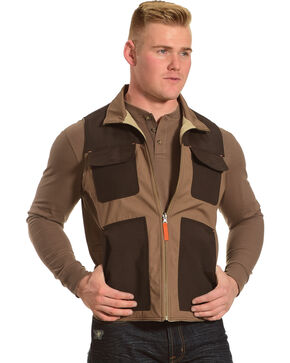 American Worker Men's Brown Reversible Major Canvas Vest, Brown, hi-res