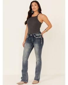 Grace in LA Women's Faded Easy Bootcut Jeans, Blue, hi-res
