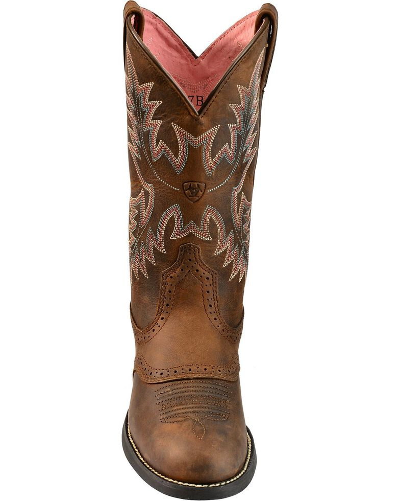 2c734c5e9e7 Ariat Heritage Stockman Saddle Vamp Cowgirl Boots - Round Toe