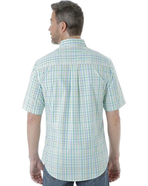 Wrangler Men's Rugged Wear Moisture Wicking Plaid Shirt , Light Green, hi-res