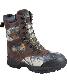"""Smoky Mountain Men's Camo Sportsman 9"""" Waterproof Hunting Boots - Round Toe , Camouflage, hi-res"""