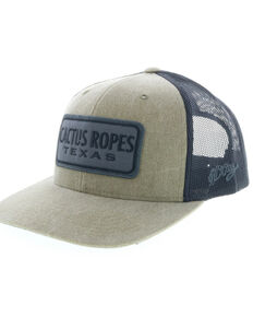 HOOey Mens Grey Cactus Ropes Logo Trucker Cap a8b34717f05b