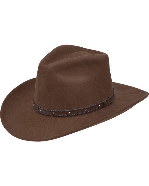 Black Creek Men's Acorn Crushable Wool Hat , Brown, hi-res