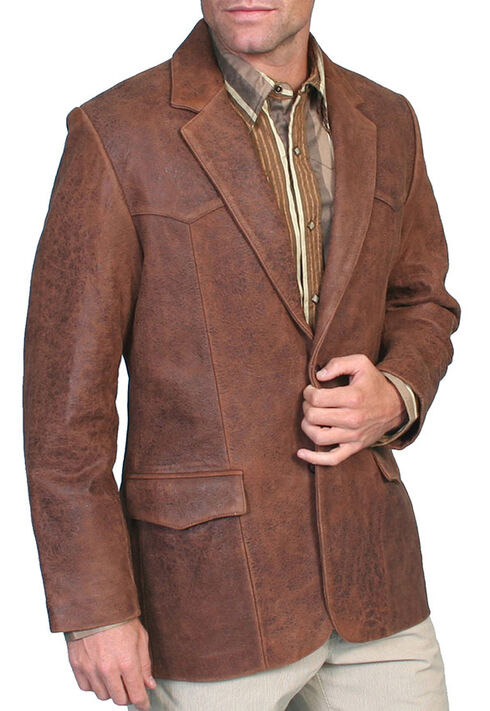 Scully Lamb Leather Blazer - Big , Brown, hi-res