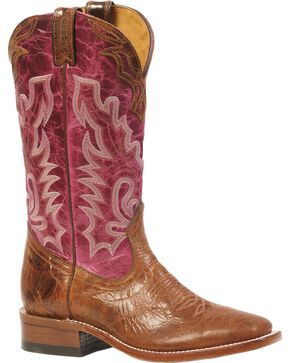 Boulet Puma Cowgirl Boots - Square Toe, Brown, hi-res