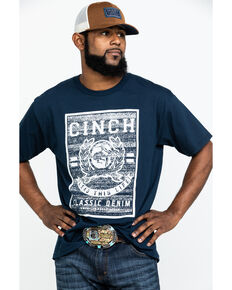 Cinch Men's Lead This Life Logo Graphic T-Shirt , Navy, hi-res