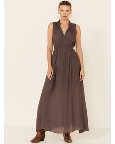Wishlist Women's Ash High-Neck Maxi Dress, Grey, hi-res