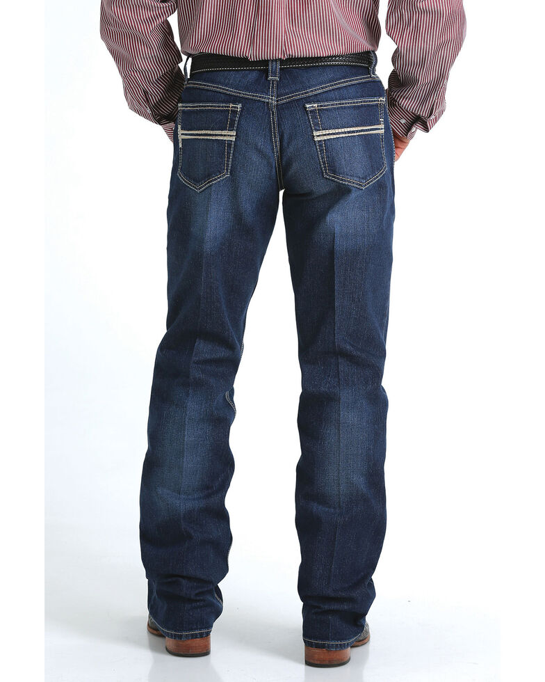 Cinch Men's Carter 2.0 Mid Stone Relaxed Bootcut Jeans , Indigo, hi-res