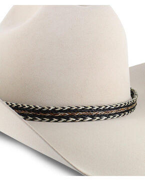 Colorado Horsehair Double Tassel Braided Hat Band, No Color, hi-res