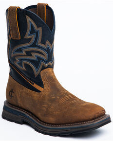 Cody James Men's Disruptor Western Work Boots - Soft Toe, Brown, hi-res