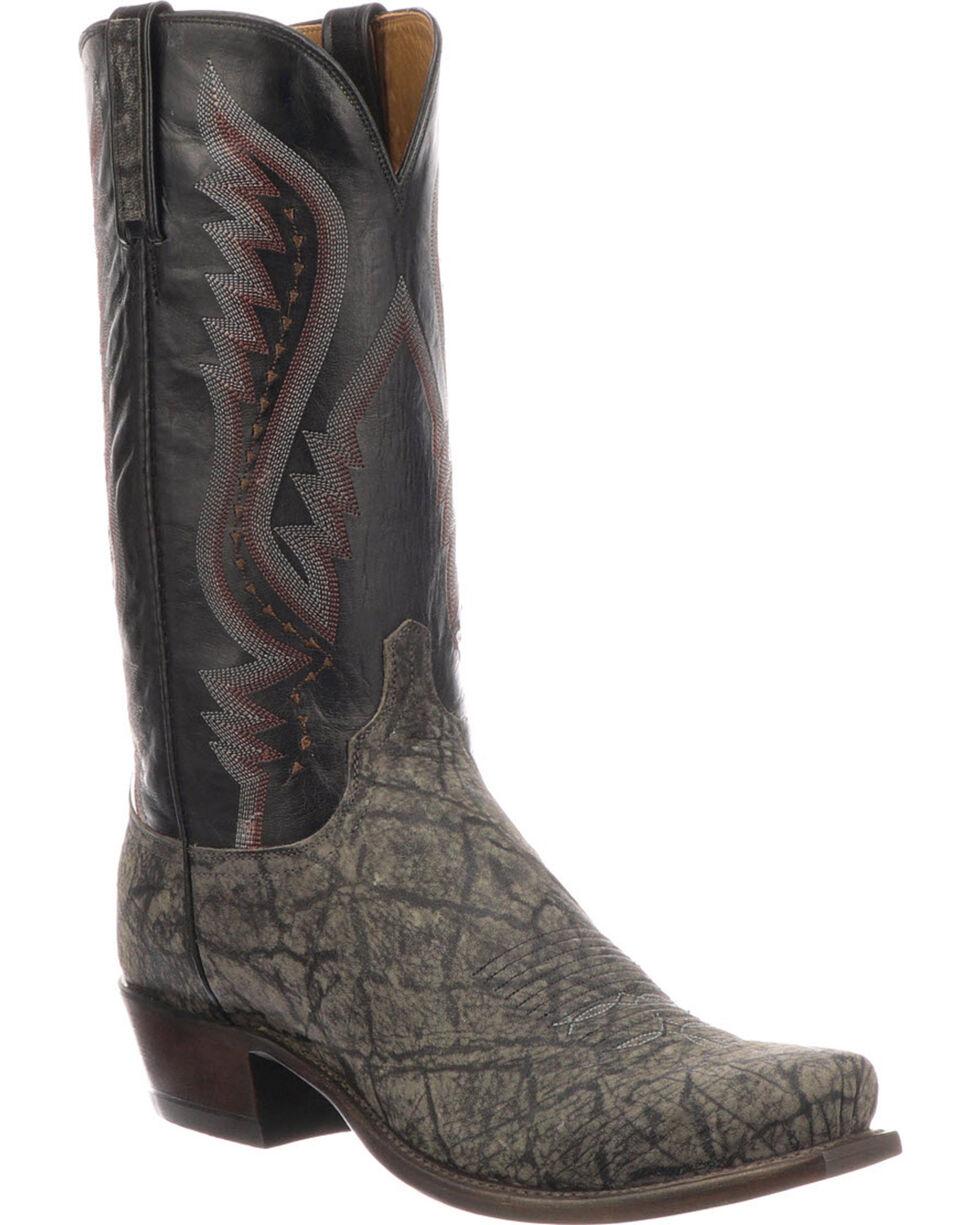 Lucchese Men's Handmade Creighton Grey Elephant Cowboy Boots - Snip Toe, Grey, hi-res
