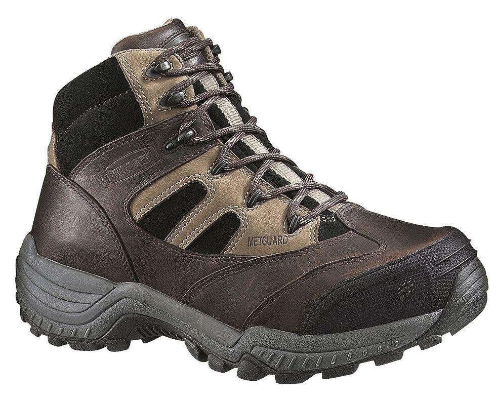 Wolverine Kingmont Slip-Resistant Work Boots - Composite Toe, Dark Brown, hi-res