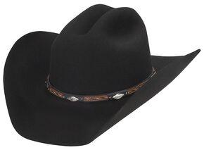 Larry Mahan Westbrooke 3X Wool Cowboy Hat, Black, hi-res