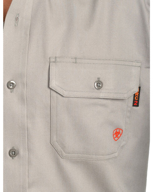 Ariat Flame Resistant Solid Work Shirt - Big and Tall, Silver, hi-res