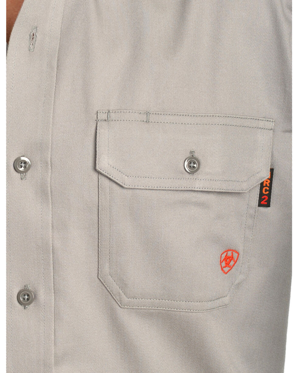 Ariat Flame Resistant Solid Work Shirt - Big & Tall, Silver, hi-res