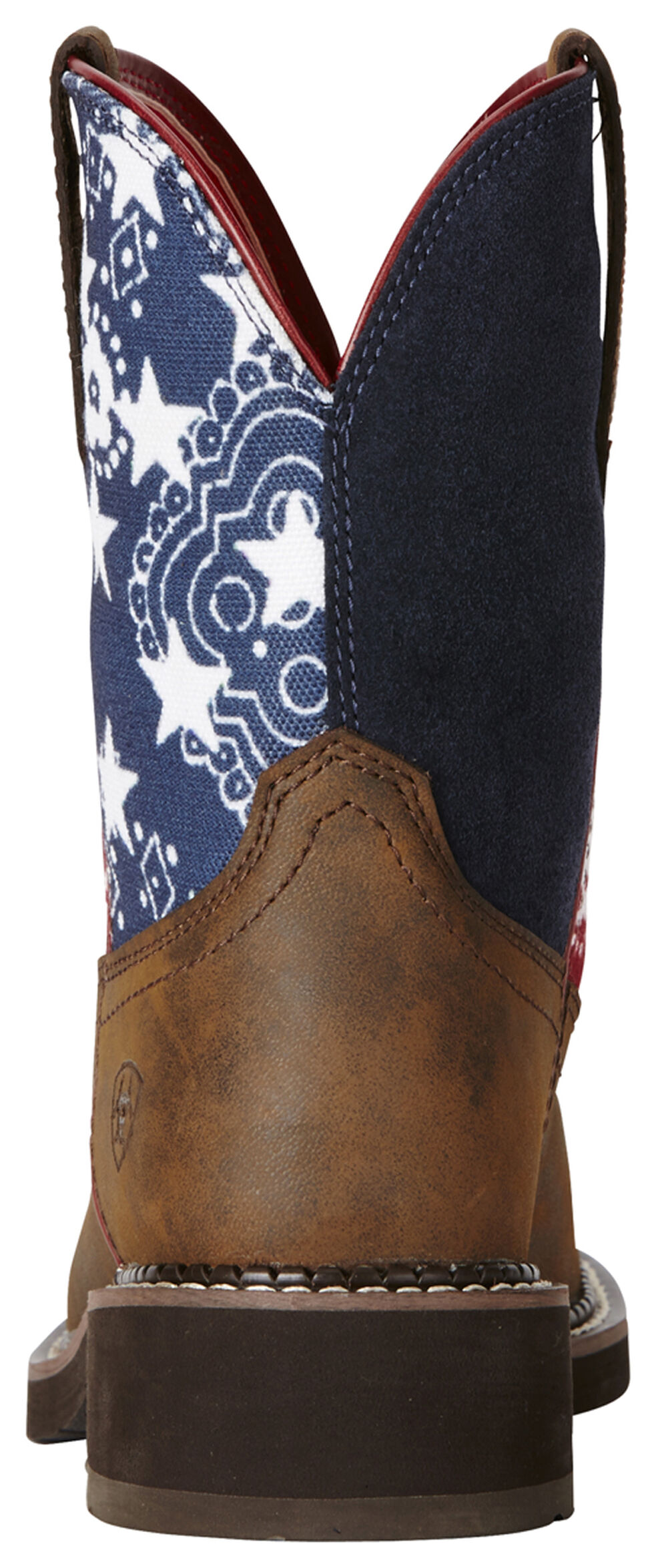 Ariat Fatbaby Patriot Brown Heritage Cowgirl Boots - Round Toe, Brown, hi-res