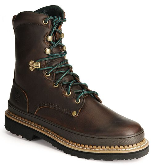 "Georgia Giant 8"" Lace-Up Work Boots, Brown, hi-res"
