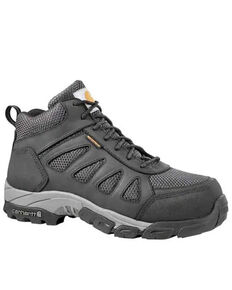 Carhartt Men's Black Lightweight Hiker Work Boots - Carbon Toe, Black, hi-res