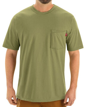 Red Kap Men's Moss Green Solid T-Shirt , Moss, hi-res