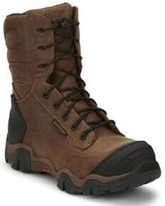Chippewa Men's Cross Terrain Waterproof Work Boots - Nano Composite Toe, Brown, hi-res