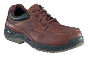 Florsheim Men's Rambler Lace-Up Oxford Shoes - Composite Toe, Brown, hi-res