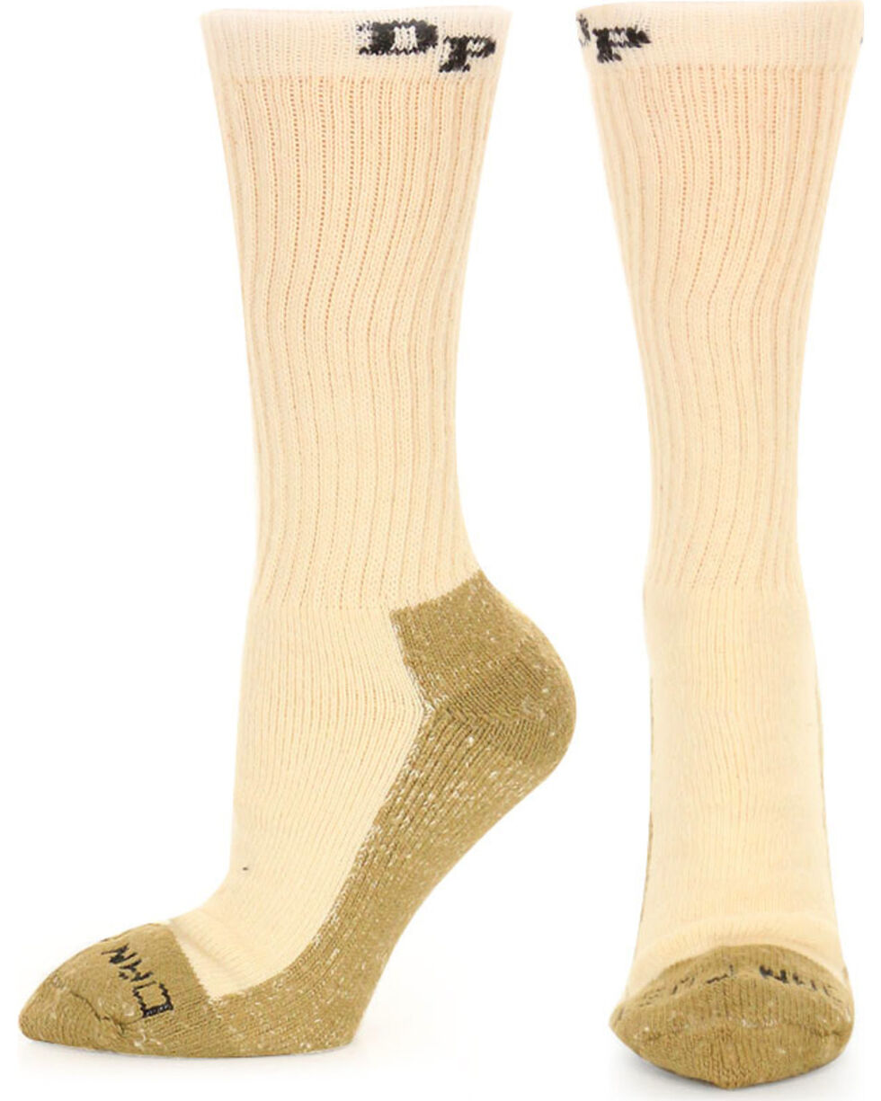 Dan Post Men's Steel Toe Work Socks, Natural, hi-res