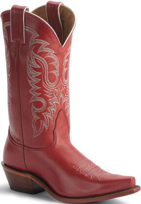 Nocona Red Legacy Cowgirl Boots - Snip Toe, Red, hi-res