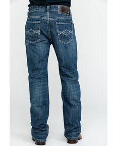 Rock & Roll Cowboy Men's Large Khaki Stitch Double Barrel Straight Jeans , Blue, hi-res