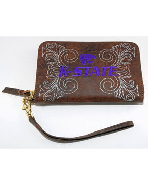 Gameday Boots Kansas State University Leather Wristlet, Brass, hi-res
