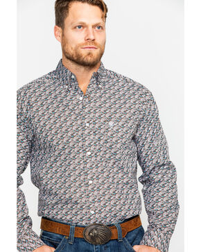 Ariat Men's Hartings Paisley Print Long Sleeve Western Shirt , Multi, hi-res