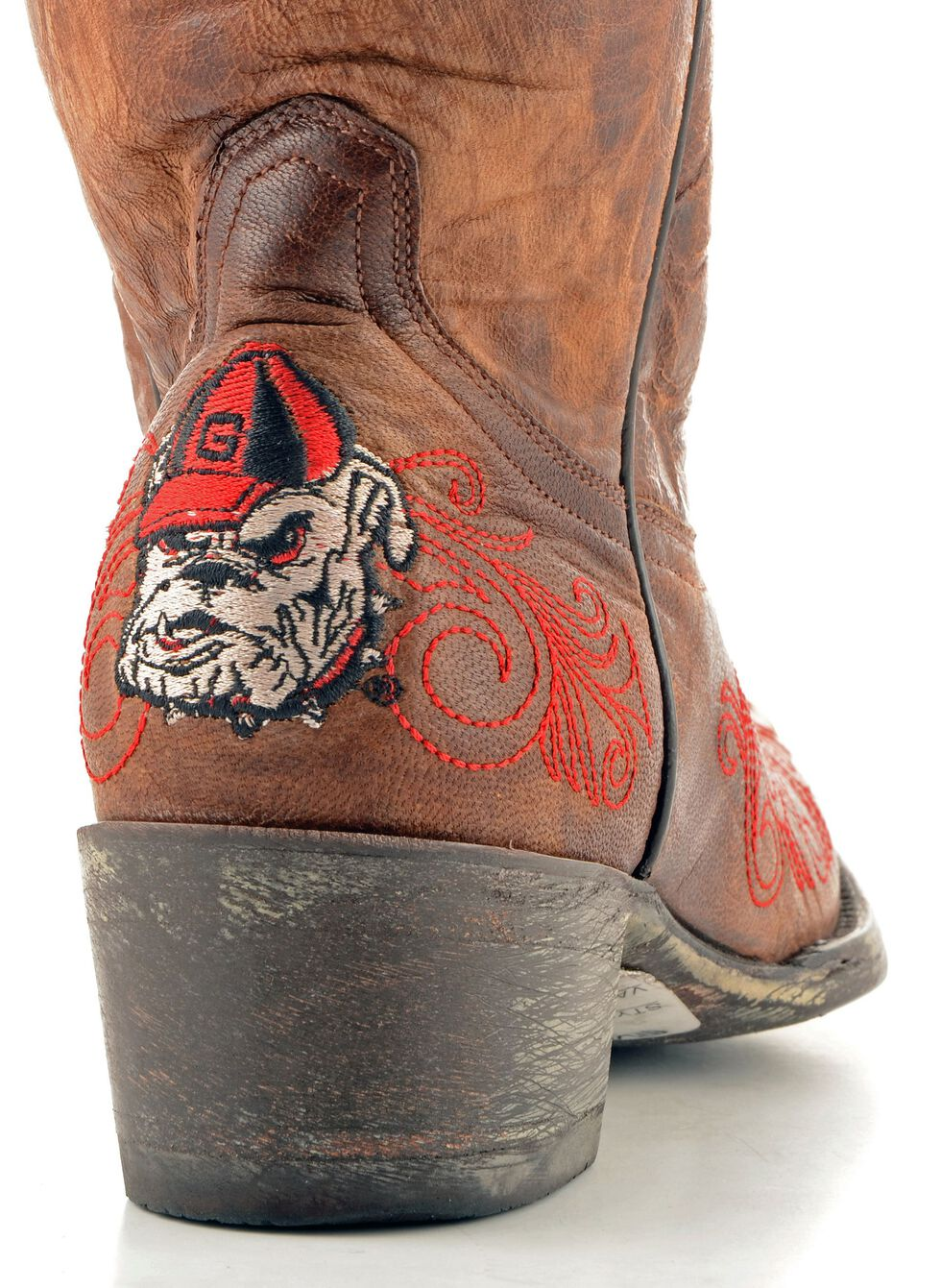 Gameday University of Georgia Cowgirl Boots - Pointed Toe, Brass, hi-res