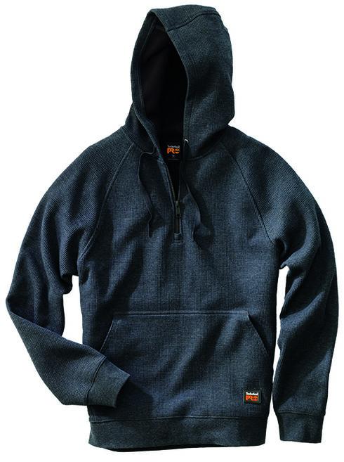 Timberland Pro Men's Downdraft Thermal Hoodie, Charcoal Grey, hi-res