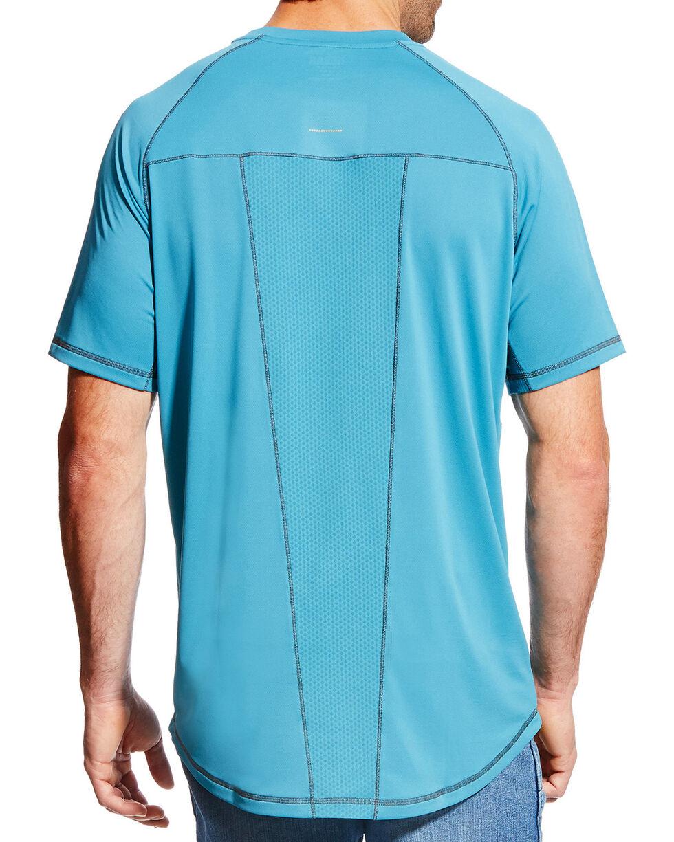 Ariat Men's Rebar Sunstopper Short Sleeve Shirt, Teal, hi-res