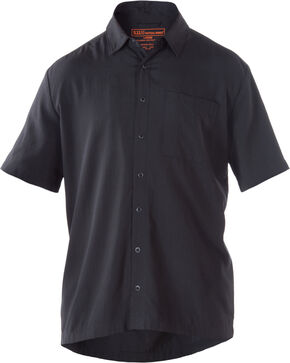 5.11 Tactical Covert Select Short Sleeve Shirt, Black, hi-res