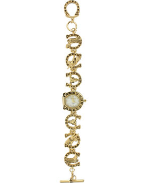 Shyanne Women's Horseshoe Bracelet Fashion Watch, Gold, hi-res