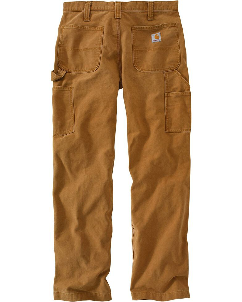 Carhartt Weathered Duck Dungaree Relaxed Fit Work Pants, Brown, hi-res
