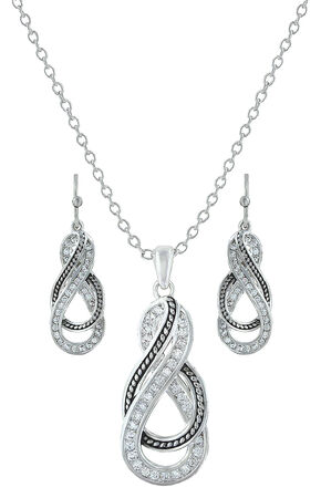 Montana Silversmiths Wrapped Up In You Jewelry Set , Silver, hi-res