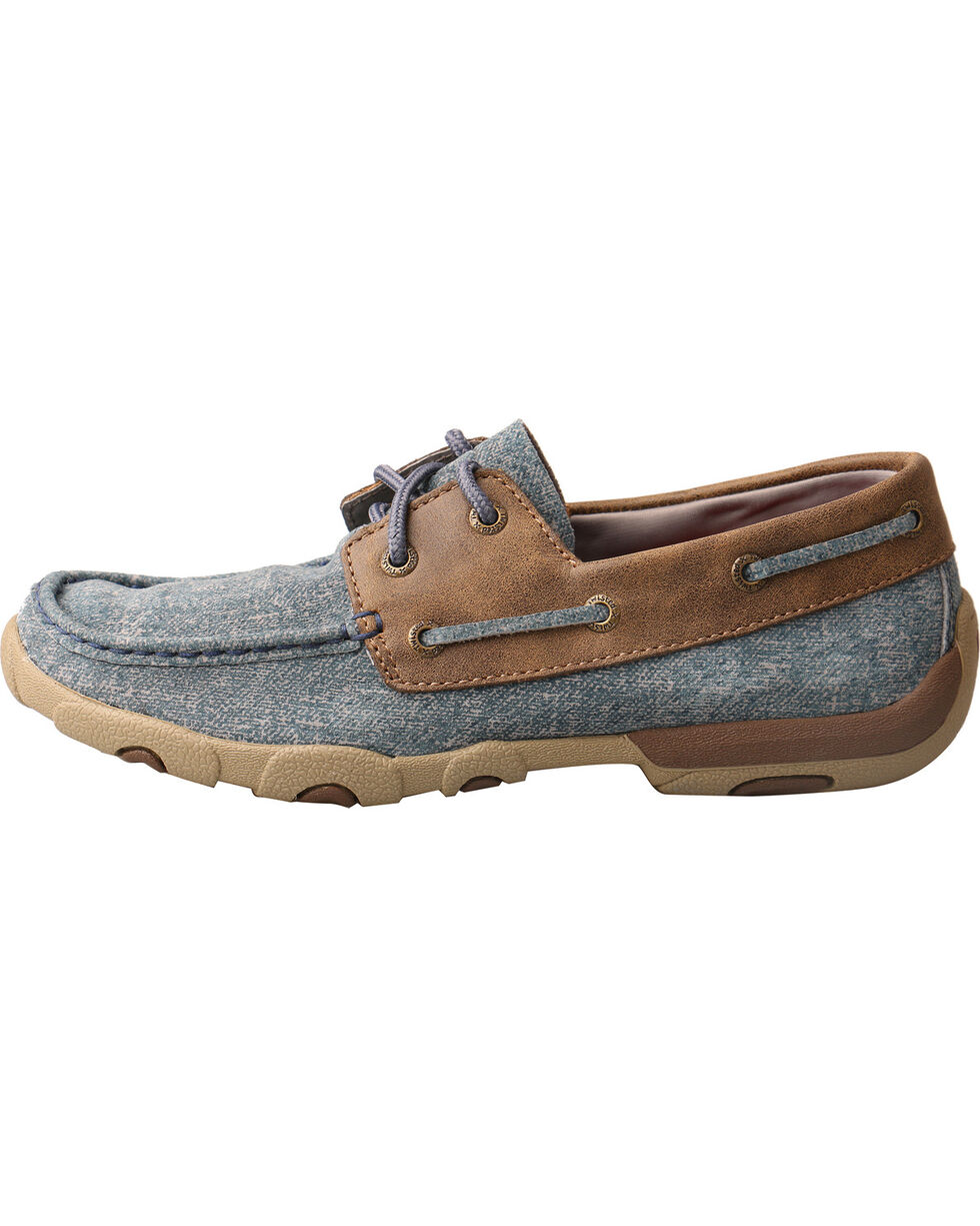 Twisted X Women's Denim Driving Mocs - Moc Toe, Multi, hi-res