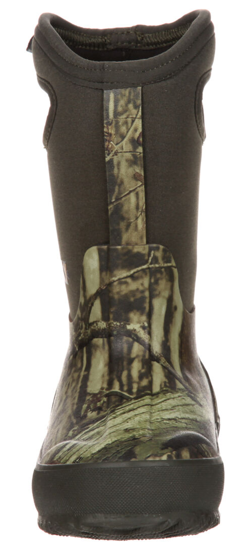 Rocky Core Youth Boys' Rubber Waterproof Insulated Pull-On Boots, Camouflage, hi-res