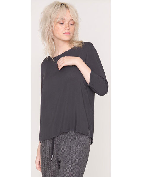 Friday's Project Women's Black 3/4 Sleeve Top , Black, hi-res