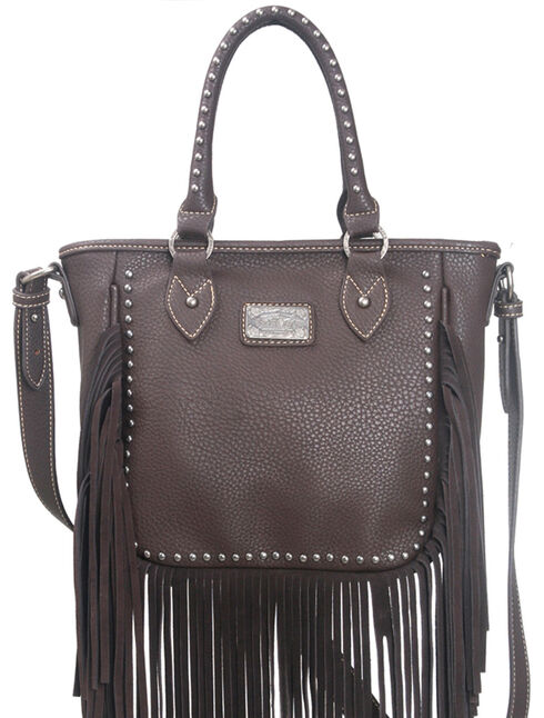 Montana West Trinity Ranch Fringe Design Handbag, , hi-res