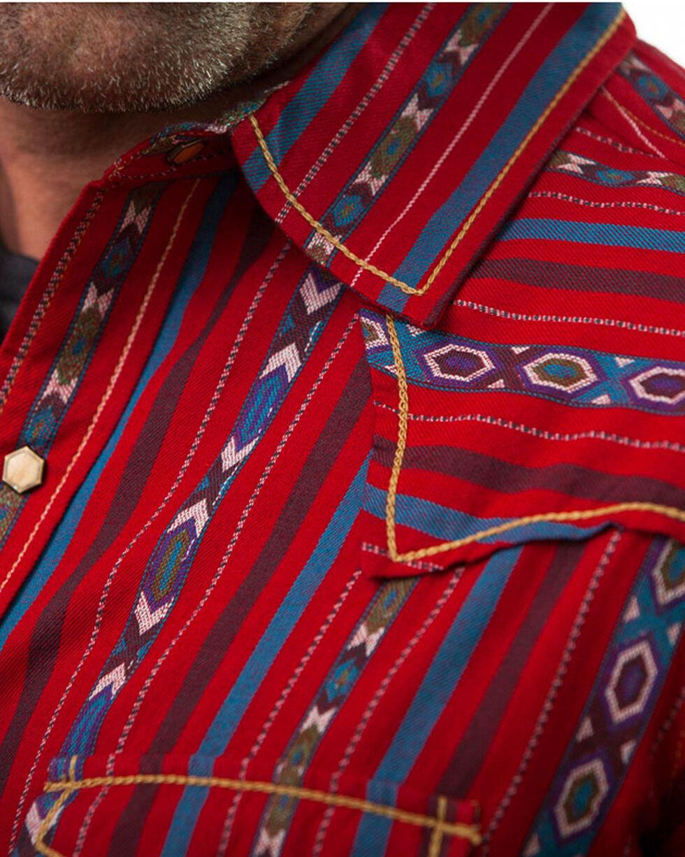 Ryan Michael Men's Cherry Navajo Stripe Jacquard Shirt, Red, hi-res
