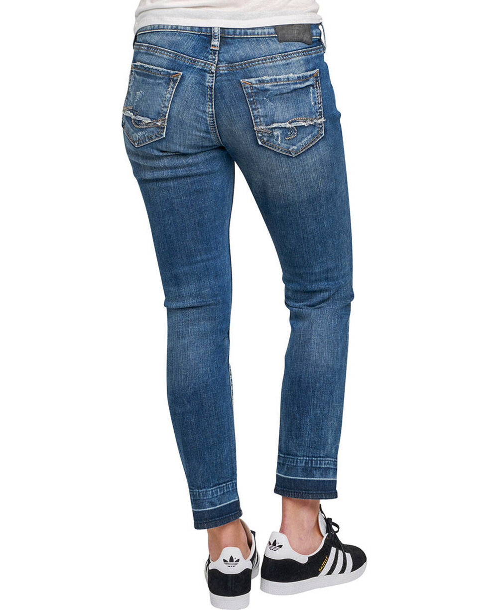 Silver Women's Sam Dark Wash Boyfriend Jeans  , Indigo, hi-res