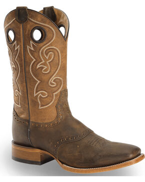 Cody James Men's Brown Saddle Vamp Western Boots - Square Toe, Brown, hi-res