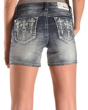 Grace in LA Women's Indigo Hangdown Pocket Shorts , Indigo, hi-res