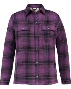 Wolverine Women's Rosewood Sherpa Lined Shirt Jac, Grape, hi-res