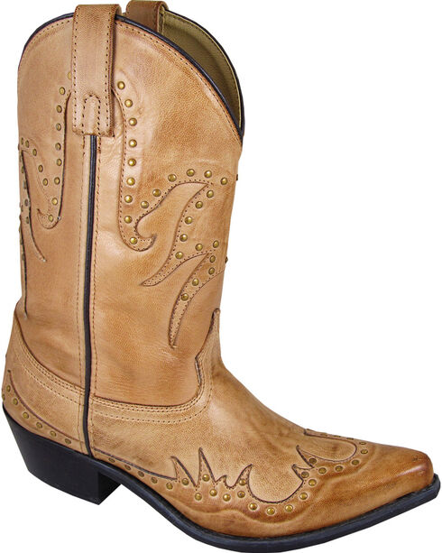 Smoky Mountain Willow Cowgirl Boots - Snip Toe, Tan, hi-res